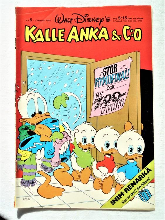 Kalle Anka&Co nr5 1982 bra skick,lite små skavanker finns.