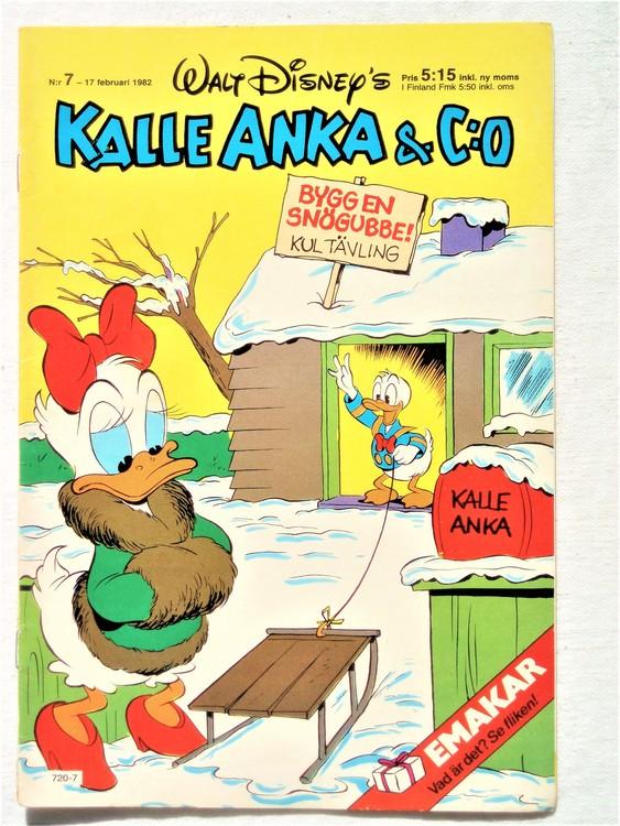 Kalle Anka&Co nr7 1982 bra skick,lite små skavanker finns.