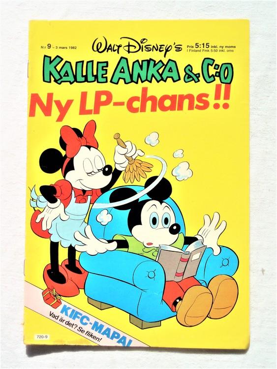 Kalle Anka&Co nr9 1982 bra skick,lite små skavanker finns.