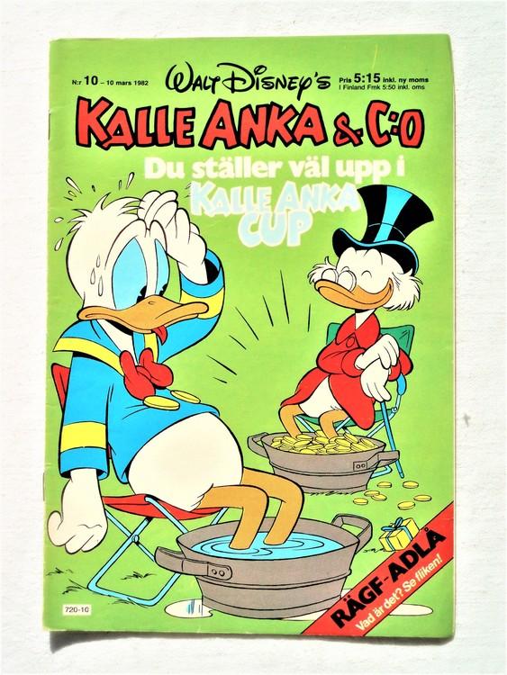Kalle Anka&Co nr10 1982 bra skick,lite små skavanker finns.