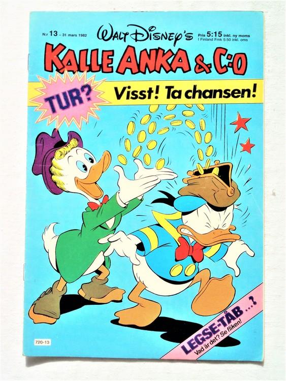Kalle Anka&Co nr13 1982 bra skick,lite små skavanker finns.