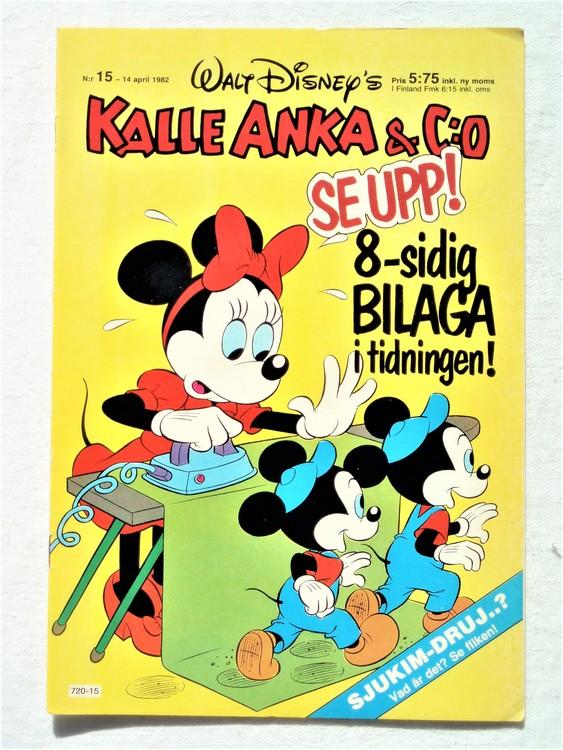 Kalle Anka&Co nr15 1982 bra skick,lite små skavanker finns.