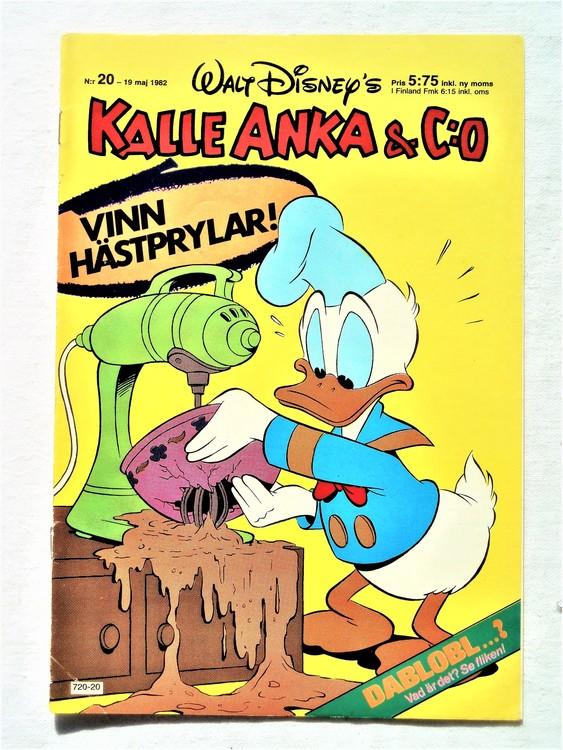 Kalle Anka&Co nr20 1982 bra skick,lite små skavanker finns.