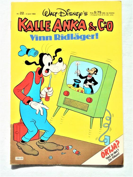 Kalle Anka&Co nr22 1982 bra skick,lite små skavanker finns.