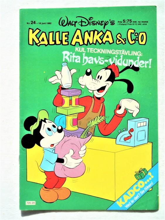 Kalle Anka&Co nr24 1982 bra skick,lite små skavanker finns.