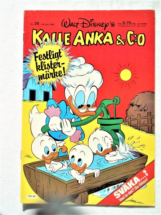 Kalle Anka&Co nr26 1982 bra skick,lite små skavanker finns.