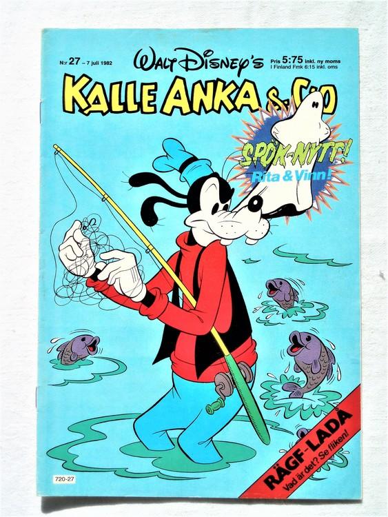 Kalle Anka&Co nr27 1982 bra skick,lite små skavanker finns.