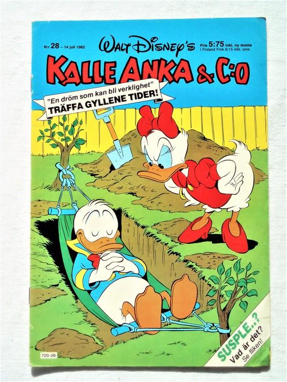 Kalle Anka&Co nr28 1982 bra skick,lite små skavanker finns.