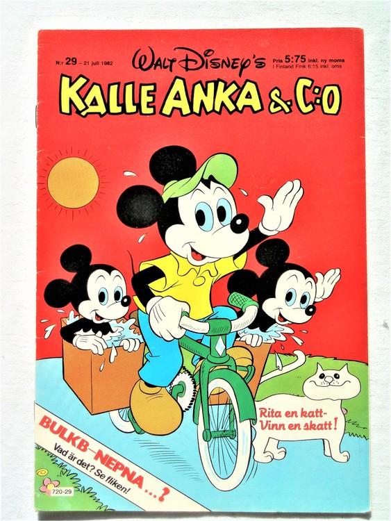 Kalle Anka&Co nr29 1982 bra skick,lite små skavanker finns.