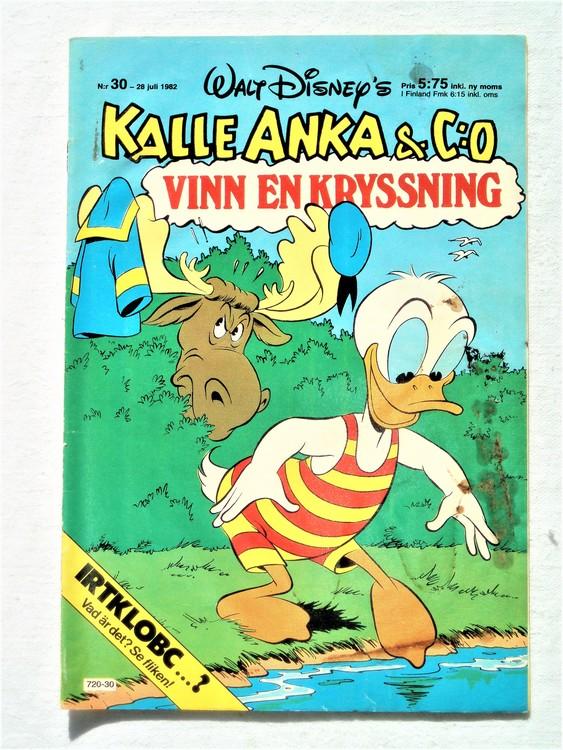Kalle Anka&Co nr30 1982 bra skick,lite små skavanker finns.