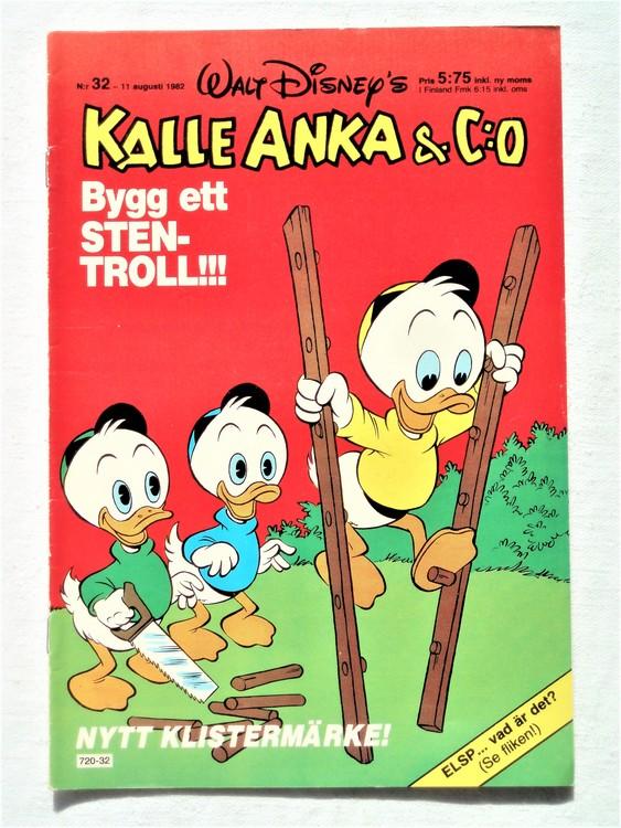 Kalle Anka&Co nr32 1982 bra skick,lite små skavanker finns.