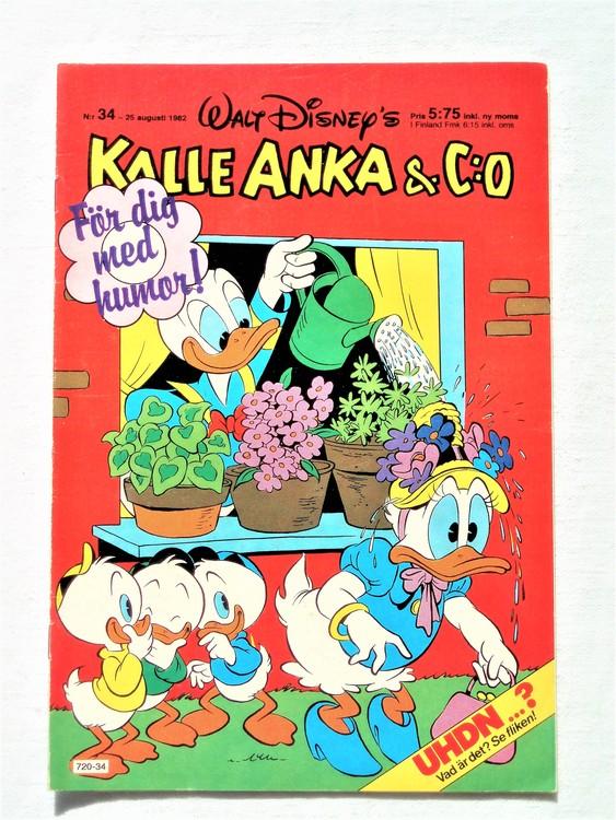 Kalle Anka&Co nr34 1982 bra skick,lite små skavanker finns.