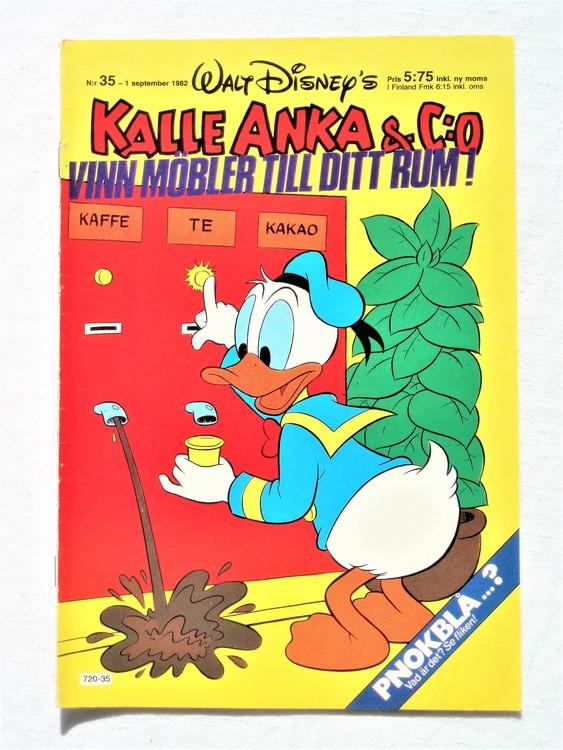 Kalle Anka&Co nr35 1982 bra skick,lite små skavanker finns.