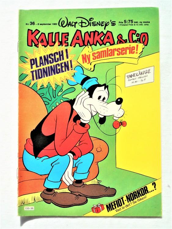 Kalle Anka&Co nr36 1982 bra skick,lite små skavanker finns.