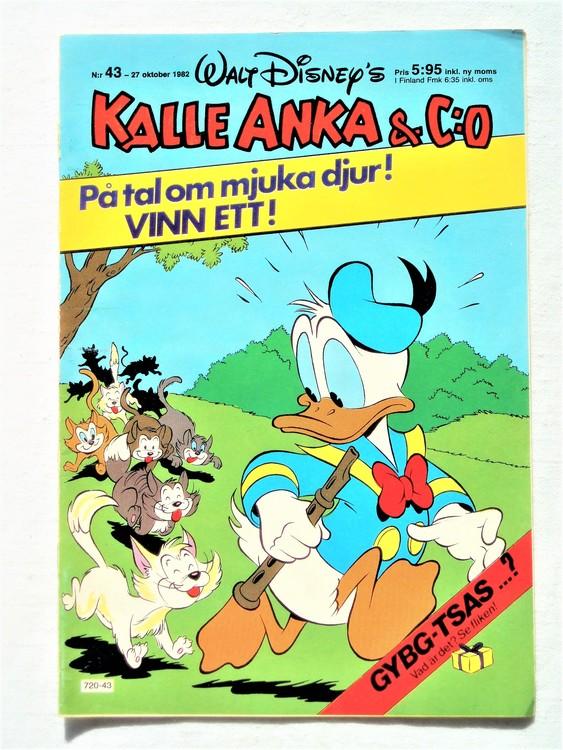 Kalle Anka&Co nr43 1982 bra skick,lite små skavanker finns.