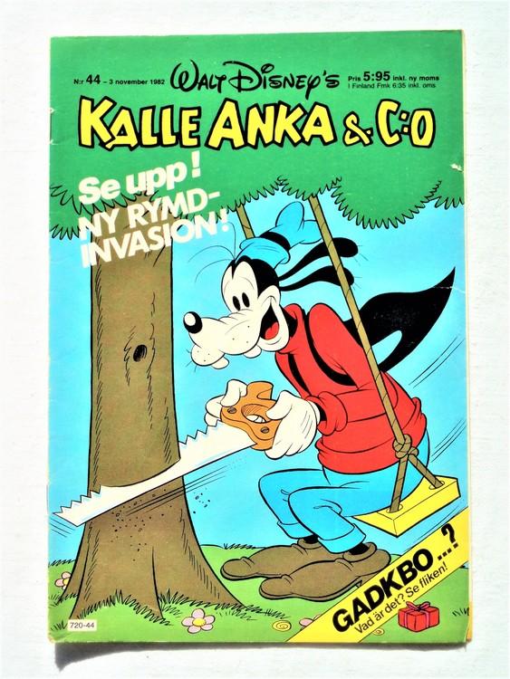Kalle Anka&Co nr44 1982 bra skick,lite små skavanker finns.
