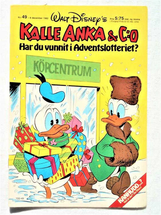 Kalle Anka & Co nr49 1982 mycket bra skick adressetikett baksida ,data tryckt.