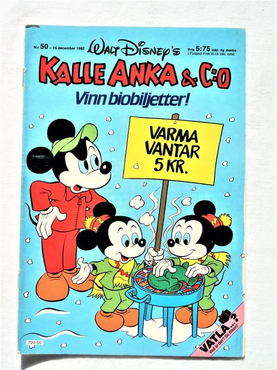 Kalle Anka&Co nr50 1982 bra skick,lite små skavanker finns.