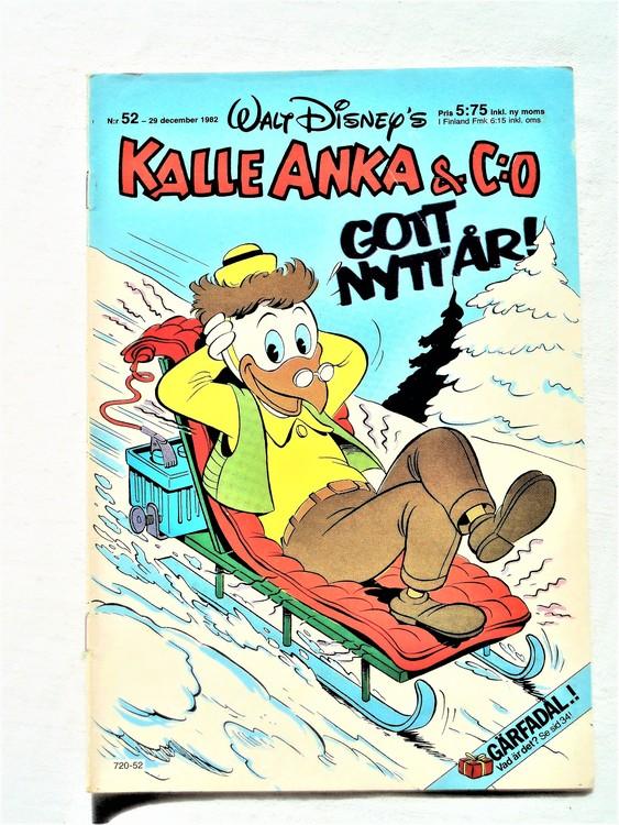 Kalle Anka&Co nr52 1982 bra skick,lite små skavanker finns.