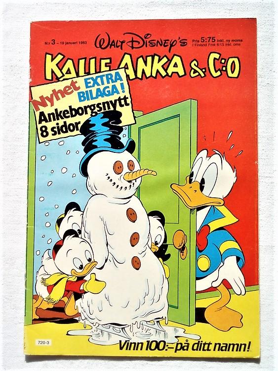 Kalle Anka&Co nr3,1983 bättre skick,lite små skavanker finns.
