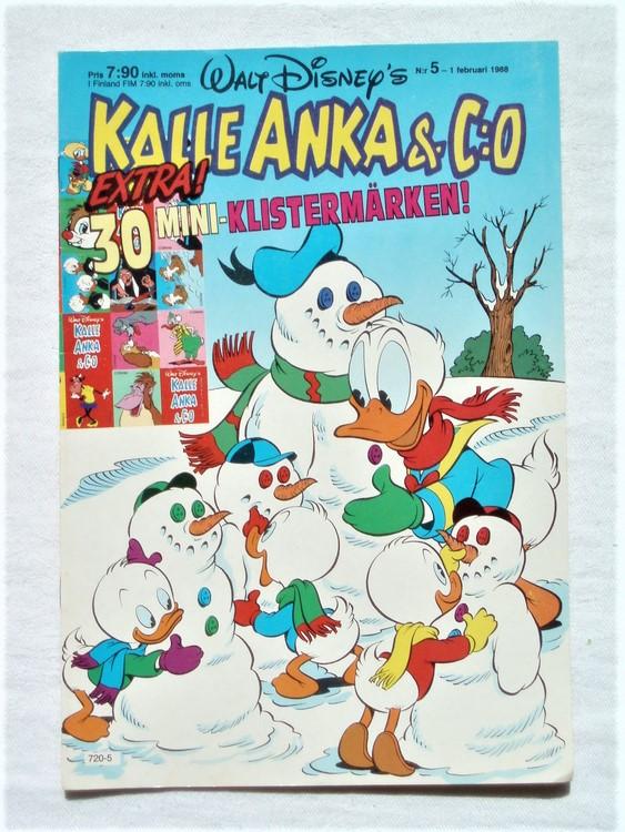 Kalle Anka&Co nr 5 1988 mycket bra skick