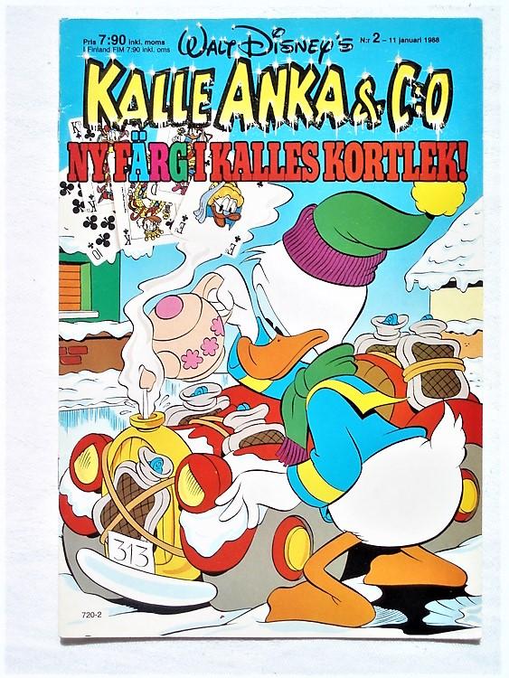Kalle Anka&Co nr2 1988 mycket bra skick
