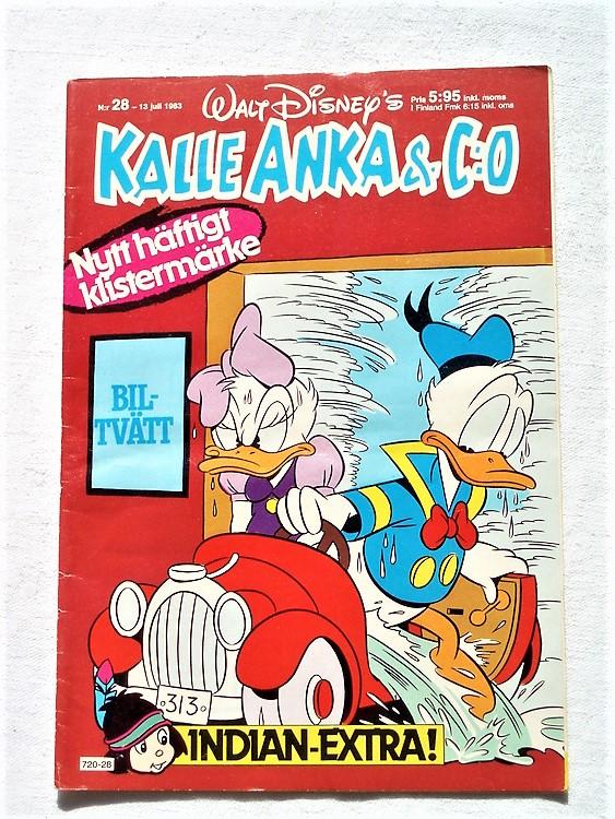 Kalle Anka&Co nr28 1983 bättre skick,lite små skavanker finns.