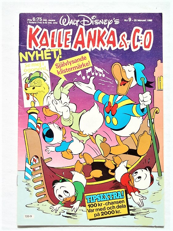 Kalle Anka&Co nr9 1985 mycket bra skick