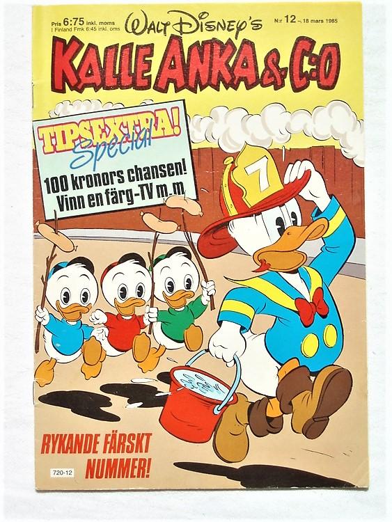 Kalle Anka&Co nr12 1985 mycket bra skick