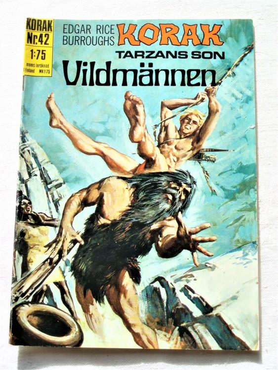 Korak Tarzans son nr 42 1971 normalskick, normalslitet, bättre skick