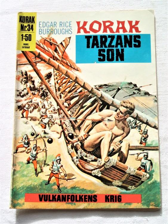 Korak Tarzans son nr 34 1971 normalskick, normalslitet, bra skick