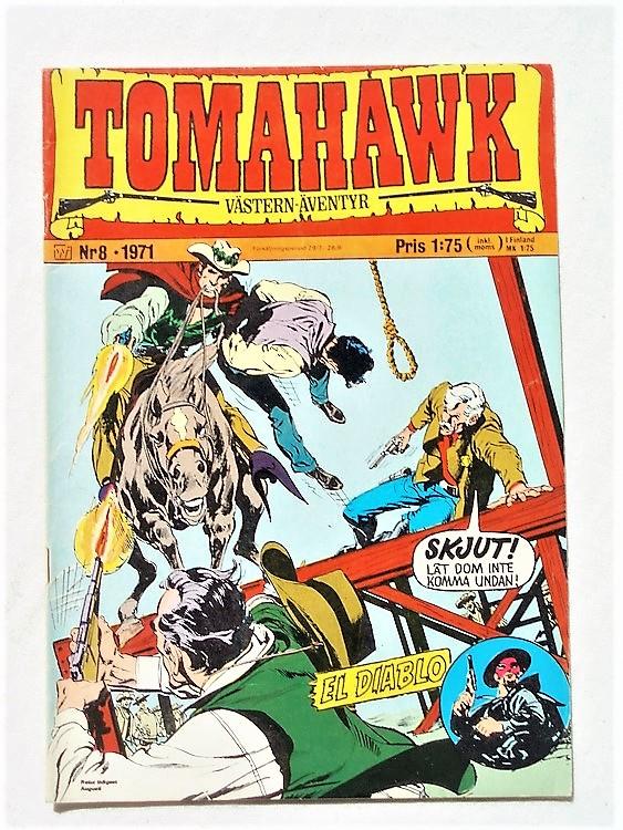 Tomahawk nr 8 1971 Williams förlag,mycket bra skick