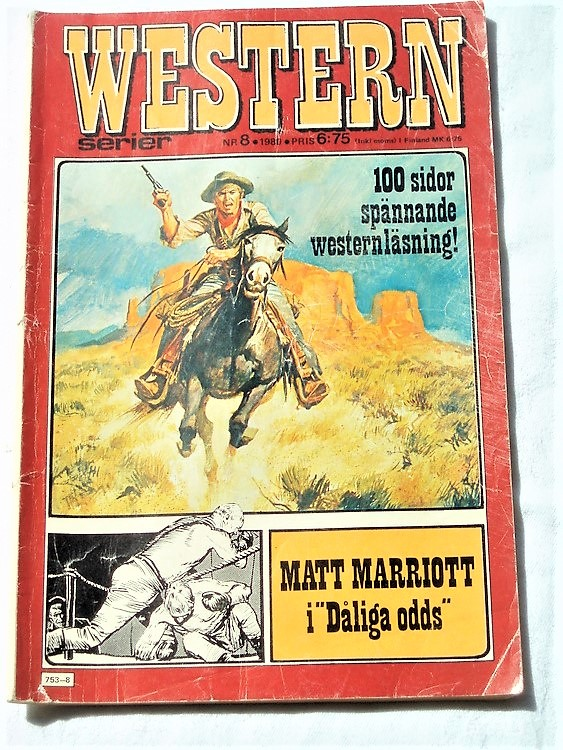 Western nr 8 1980 normalskick, normalslitet bra skick