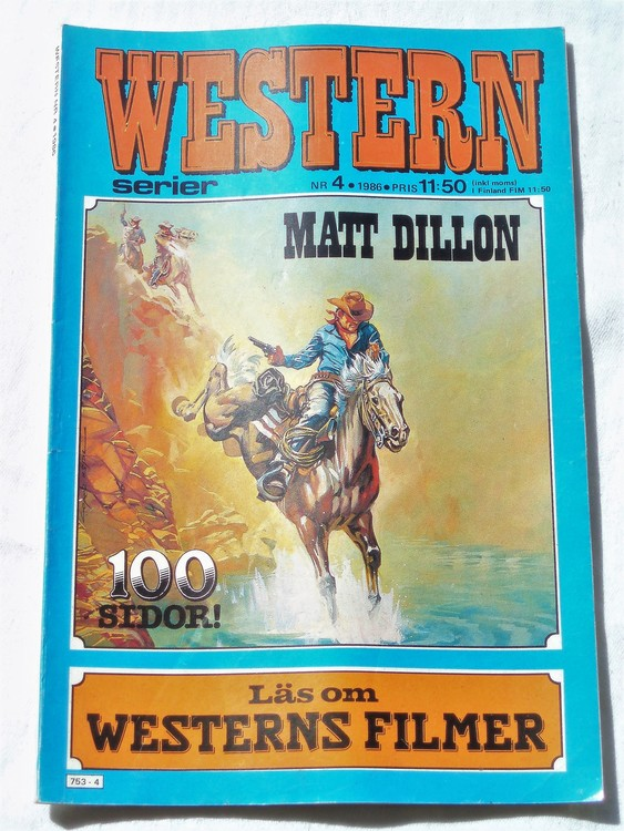 Western nr 4 1986 normalskick, normalslitet, bra skick