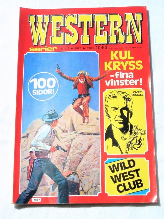 Western nr 7 1985 normalskick,normalslitet,bra,100 sidor