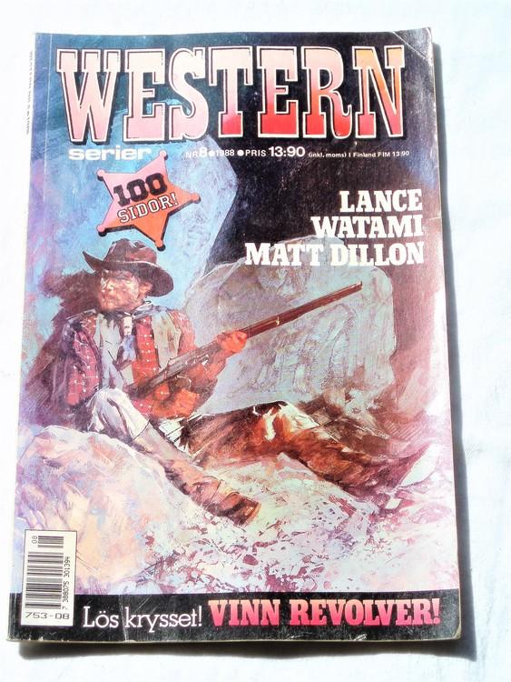 Western nr 8 1988 normalskick, normalslitet, bra skick