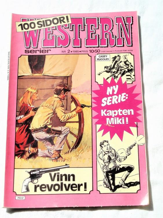 Western nr 2 1985 normalskick,normalslitet,bra skick,100 sidor