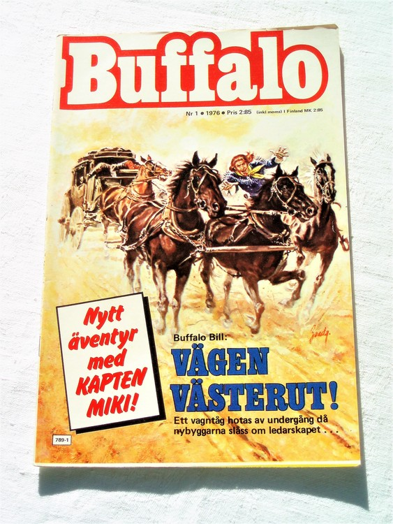 Buffalo nr 1 1976 mycket bra skick