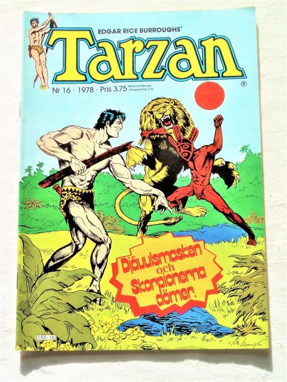 Tarzan nr 16 1978 mycket bra skick.