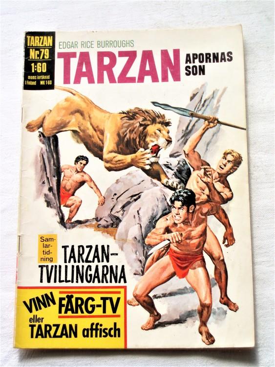Tarzan nr 79 1971 normalslitet normalskick  bra skick