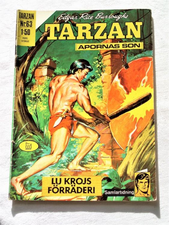 Tarzan nr 63 1970 normalslitet normalskick  bra skick