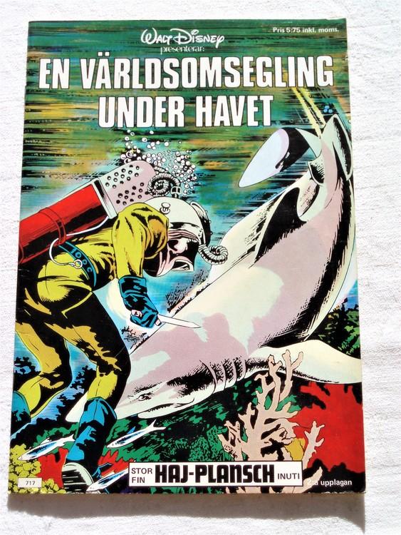 En Världsomsegling Under Havet 1976 Walt Disney presenterar,mycket bra skick