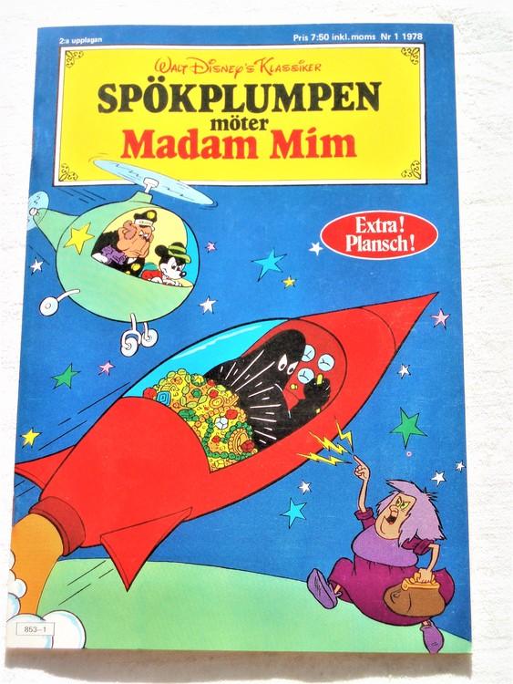Spökplumpen Möter Madam Mim nr 1 1978 mycket bra skick nyskick oläst