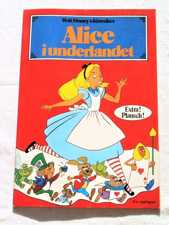"""Alice i Underlandet """"Walt Disney´s Klassiker"""" mycket bra skick nyskick oläst"""