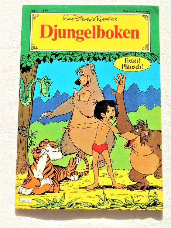 """Djungelboken nr 4 1976 """"Walt Disney´s Klassiker"""" mycket bra skick nyskick oläst"""