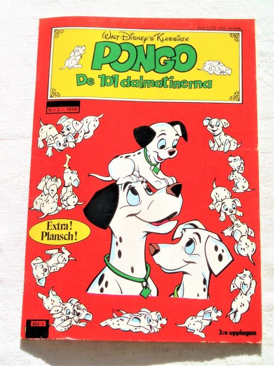 "Pongo nr2 1976 ""Walt Disney´s Klassiker"" mycket bra skick nyskick oläst"