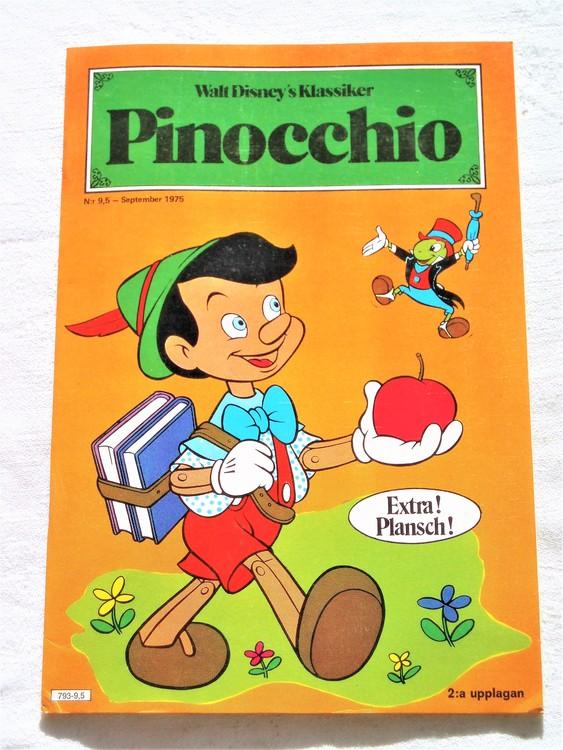 "Pinocchio nr 9,5 1975 ""Walt Disney´s Klassiker"" mycket bra skick nyskick oläst"