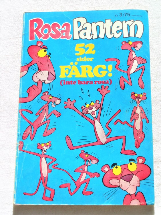 Rosa Pantern nr 1 1973 bra skick