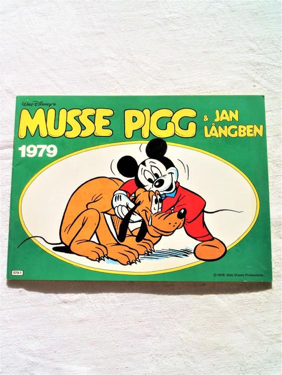 Musse Pigg & Jan Långben 1979 mycket bra skick, nyskick oläst semic