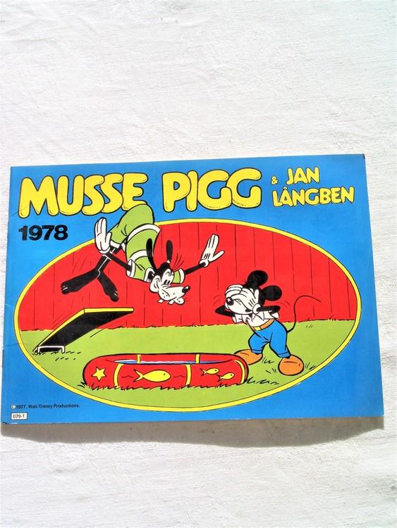 Musse Pigg & Jan Långben 1978 mycket bra skick, nyskick oläst semic